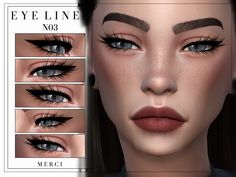 The Sims 4 Eyeliner The Sims 4 Skin, The Sims 4 Pc, Sims 4 Cas, Los Sims 4 Mods, Sims 4 Game Mods, Sims 4 Cc Eyes, Sims 4 Mm Cc, Vêtement Harris Tweed, Sims 4 Cc Makeup