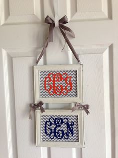 This would be cute for our apartment door with all three monograms