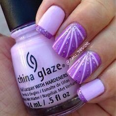 Purple Nail Art, Purple Nail Designs, Pretty Nail Designs, Purple Nails With Glitter, Purple Sparkle, Green Nails, Dark Purple, Popular Nail Designs, Best Nail Art Designs
