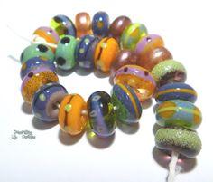 SPELLBOOK Handmade Lampwork Beads Fall Spooky by desertbugdesigns