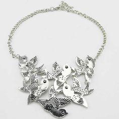 Zinklegierung Schmuck Halskette, mit Verlängerungskettchen von 1.5Inch, Vogel, plattiert, Twist oval, keine, frei von Nickel, Blei & Kadmium...
