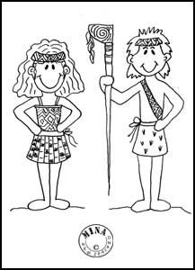 Maori colouring pages for kids.