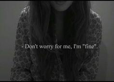 ''I'm fine''