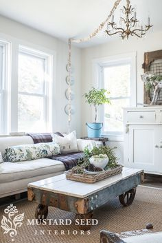 A fall home tour with natural elements and vintage style.
