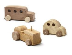 Ah! E se falando em madeira...: Carrinhos para crianças