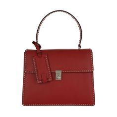 Valentino Luxury | Valentino Enamel Satchel Rosso in rot - Fashionette