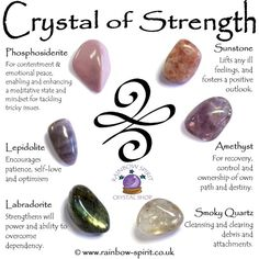 Along with the Celtic symbol for Inner Strength, one of my personal favorites being scotch, these are wonderful crystals to remind… Crystal Healing Stones, Crystal Magic, Crystal Guide, Healing Crystal Jewelry, Crystal Shop, Crystals For Healing, Crystals For Sleep, Crystal Wall, Crystal Choker