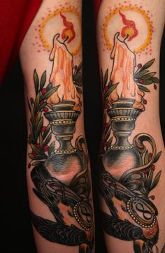 Candle Tattoos and Designs : Page 7