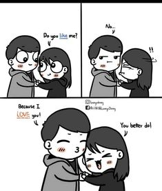 Cartoon Love Quotes, Love Cartoon Couple, Cute Couple Comics, Couples Comics, Happy Cartoon, Cute Love Cartoons, Anime Love Couple, Cute Comics, Cute Cartoon