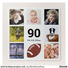 Shop birthday 30 photo collage man guy white jigsaw puzzle created by EllenMariesParty. 90th Birthday Parties, Boy Birthday, Birthday Celebration, Birthday Ideas, Custom Gift Boxes, Customized Gifts, Worlds Best Dad, Make Your Own Puzzle, Unique Photo