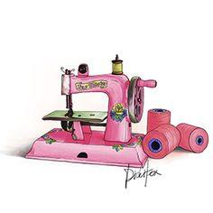 Pink Sewing Machine Singer $9.5