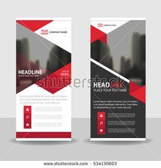 red triangle business roll up banner flat design template abstract geometric template vector illustration set abstract presentation brochure flyer Rollup Banner Design, Rollup Design, Company Banner, Sign Company, Brochure Design, Flyer Design, Branding Design, Banner Design Inspiration, Storefront Signs