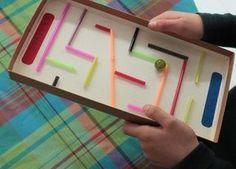 Labyrinthe pailles à construire Contrainte mesure des pailles