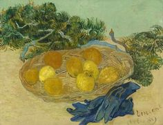 Vincent Van Gogh -Oranges and lemon with blue gloves, 2889 oil on canvas