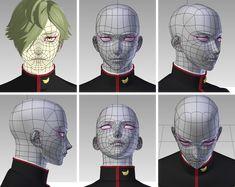 3d Model Character, Character Modeling, 3d Modeling, Planes Of The Face, 3d Figures, Modelos 3d, 3d Tutorial, 3d Face, 3d Artwork