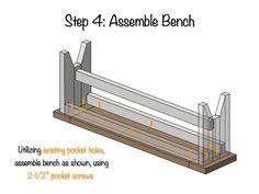 DIY Farmhouse Bench Plans - Step 4
