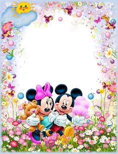Minnie Mouse Pictures, Mickey Mouse Images, Mickey Minnie Mouse, Birthday Background Design, Tigger Disney, Disney Frames, Alphabet Pictures, Mickey Mouse Wallpaper, Birthday Frames