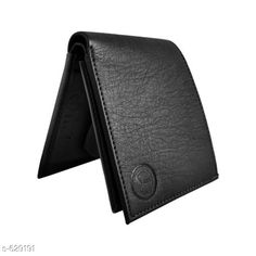 Checkout this latest Wallets Product Name: *Trendy Men's Black Wallet* Sizes: Free Size Country of Origin: India Easy Returns Available In Case Of Any Issue   Catalog Rating: ★4.1 (477)  Catalog Name: Mens Attractive Swade & Italian Leather Wallets Vol 1 CatalogID_70672 C65-SC1221 Code: 502-629191-997