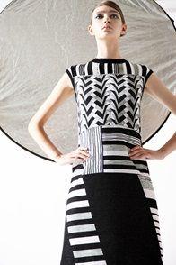 antonio marras black & white dress pre collection ss 2015