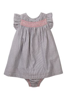 Mini Stripe Dress & Bloomer Set (Baby Girls) would be cute with soft chambray fabric (recycle jeans?)