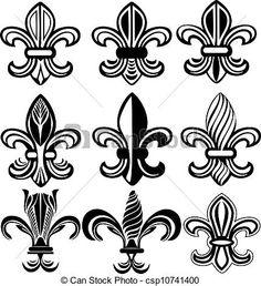 Fleur De Lis New Orleans symbol - csp10741400