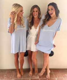 Get ready with your Bridesmaids in our Benji Tunic Tees