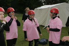 Getting ready!  Abseiling at Canonteign Falls for Children's Hospice South West.  #abseil