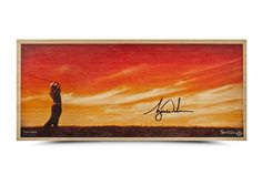 TIGER WOODS Signed Perfecting The Craft Bamboo Print LE of 50 UDA.