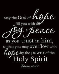 Romans 15:13 NIV