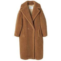 コート ❤ liked on Polyvore featuring outerwear, coats, coats & jackets, jackets, fur, fur coat, brown fur coat and brown coat