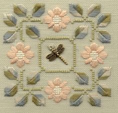 ♈ Dragonfly Versailles ♈ dragonflies in art, photography, jewelry, crafts, home & garden decor - Embroidered Dragonfly