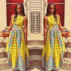 African-inspired designs are quickly taking over the fashion world. All of the styles shown above are absolutely elegant, fashion forward and can be worn by people of different ethnic backgrounds. African Dresses For Women, African Print Dresses, African Attire, African Wear, African Women, African Prints, African Style, African Fabric, African Inspired Fashion