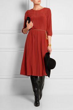 Vanessa Seward | Ameriques pleated silk crepe de chine dress | NET-A-PORTER.COM