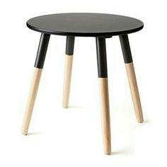 Black scandi side table - 3 leg not 4