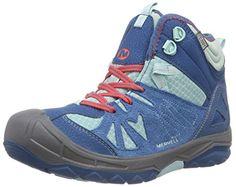 K Merrell Little Kid // Big Kid Grey // Green CHAMELEON LOW LACE WTPF Chameleon Low WT Hiking shoe
