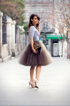 20 Fab Ways To Wear A Feminine Tulle Skirt | Styleoholic