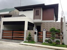 2 Storey Modern Zen Design Location: Muntinlupa City DESCRIPTION: Master's Bedroom with T&B and Walk-in Closet 2 Bedrooms w/ common t&b Family/ Entertainment Room Maid's & Driver's Room w/ t&b Powder Room Lanai Laundry Area House Fence Design, House Main Gates Design, 2 Storey House Design, Door Gate Design, Modern Tropical House, Tropical House Design, Small House Design, Gate Designs Modern, Small Modern House Plans