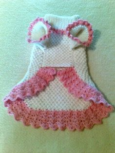 Free Crochet Pattern Dog Dress ~ Dancox ForYou can find Dog dresses and more on our website.Free Crochet Pattern Dog Dress ~ Dancox For Crochet Dog Sweater Free Pattern, Crochet Dog Patterns, Knit Dog Sweater, Sweater Patterns, Doily Patterns, Dress Patterns, Knitting Patterns, Small Dog Clothes, Pet Clothes