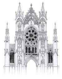 Gothic Architecture Gothic And Gothic Architecture Drawing