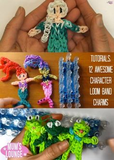 How-To: Rainbow Loom band dolls - Great idea for Operation Christmas Child boxes! Rainbow Loom Bands, Rainbow Loom Charms, Rainbow Loom Bracelets, Rainbow Loom Characters, Loom Band Charms, Loom Band Bracelets, Loom Love, Fun Loom, Rainbow Loom Patterns