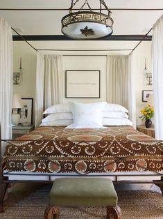 Beautiful bedding surrounded by symmetry. #bedroomgoals    Brian j mccarthy inc portfolio interiors bedroom