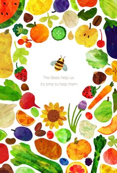 """The Bees help us. It's time to help them."" The Bee Project by Samantha Hurst, via Behance"