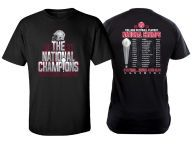 """Buy J America """"Exclusive"""" NCAA Men's National Champion Schedule T-Shirt T-Shirts Apparel and other Ohio State Buckeyes products at OhioStateBuckeyes.com"""
