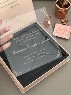 15 anos Best Wedding Ideas To Make Your Wedding Unique wedding invitations Quince Invitations, Acrylic Wedding Invitations, Unique Wedding Invitations, Wedding Invitation Cards, Wedding Cards, Wedding Favors, Scroll Invitation, Laser Cut Invitation, Invites