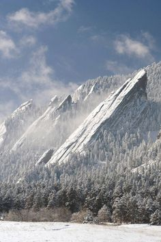 The Flatirons, Boulder, CO  I can't wait to visit here. Haven't been here quite yet.