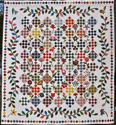 Fun with Barb: Spring Quilt Festival. Calico Garden Quilt