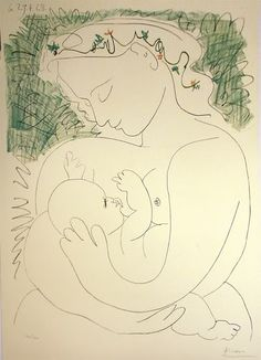 What can one really say about Picasso expect his life is in his art.  Picasso: Maternite, 1963  #maternity #art #picasso