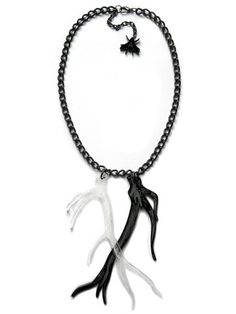 A is for Arsenic // Twin Antler Black & Clear Necklace
