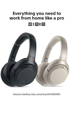 Sony Noise Cancelling Headphones Wireless Bluetooth Over the Ear Headset with Mic for phone-call and Alexa voice control - Industry Leading Active Noise Cancellation – Silver On Ear Earphones, Best Headphones, Over Ear Headphones, Wireless Headset, Gaming Headset, Bluetooth Headphones, Noise Cancelling Headphones, Apple Products, Cell Phone Accessories