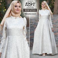 New Kenza - Ekru Elbise #tesettur #tesetturelbise #tesetturgiyim #tesetturabiye